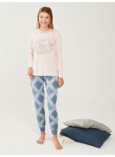 U.S. Polo Assn. Pijama Takım Pudra
